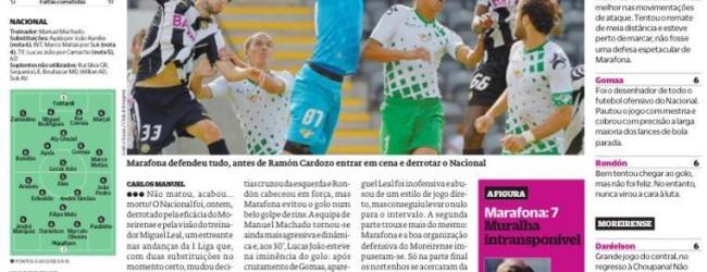 """Marafona a """"muralha intransponível"""" – Nacional 0-1 Moreirense – O Jogo"""