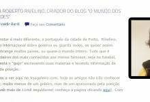 Roberto Rivelino, criador do projecto O Mundo dos Guarda-Redes, em entrevista ao VoaGoleiro
