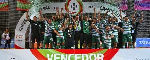 João Benedito, André Sousa e Cristiano vencem a Supertaça de Futsal pelo Sporting