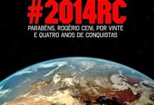 Ceni fez ontem 24 anos ao serviço do São Paulo e é homenageado pela NASA