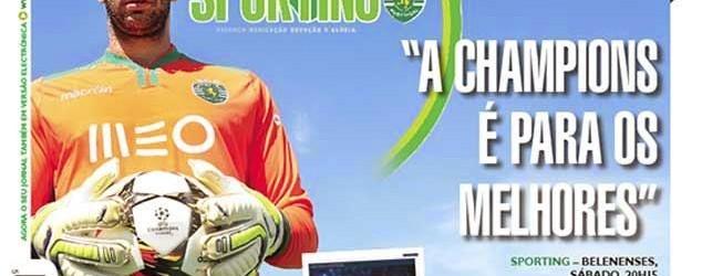Rui Patrício em entrevista ao jornal do Sporting