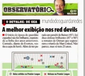 """De Gea: """"análise à melhor exibição nos Red Devils"""" por Rui Malheiro – Record"""