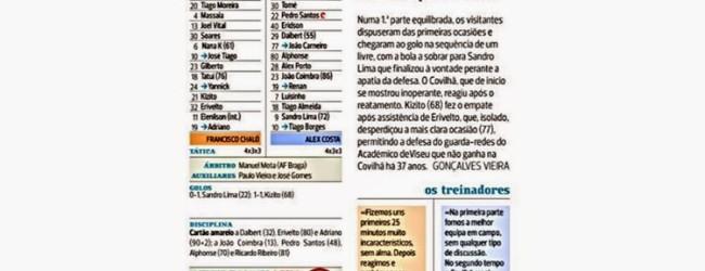 """Ricardo Ribeiro """"a figura"""" no Covilhã 1-1 Académico de Viseu – A Bola"""