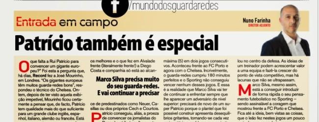 """Rui Patrício """"também é especial"""" por Nuno Farinha – Record"""