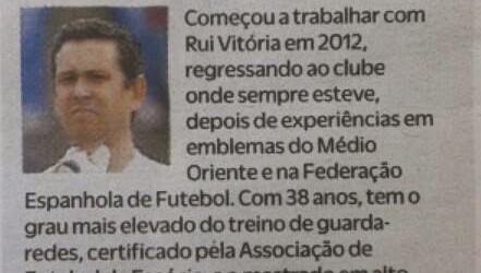 """Luís Esteves, uma das """"cinco sombras no êxito de Vitória"""" – O Jogo"""