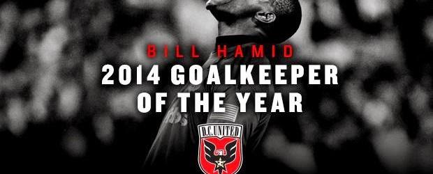 Bill Hamid vence prémio MLS Goalkeeper of the Year 2014