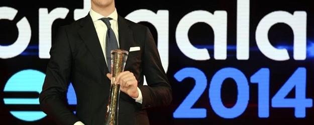 Courtois recebe prémio para Atleta Belga do Ano 2014