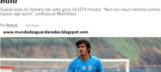 """João Botelho """"a 17 minutos de imitar Vitor Baía"""" – MaisFutebol"""