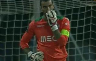 Rui Patrício sabe porque não agarrou a bola no Nacional 2-2 Sporting