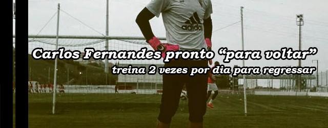 """Carlos Fernandes pronto para """"voltar à competição assim que possível"""""""