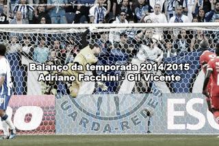Adriano Facchini – Gil Vicente – Balanço da temporada 2014/2015