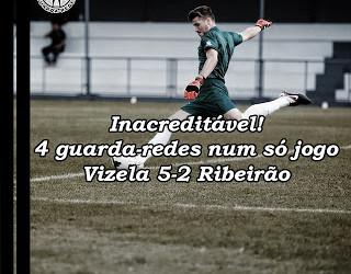 Christopher, João Cruz, Olantuji, Bruno Mendonça e Albergaria… todos eles guarda-redes no Vizela 5-2 Ribeirão