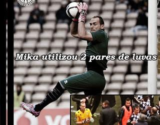 Mika utilizou dois pares de luvas no jogo da manutenção – Boavista 3-1 Moreirense