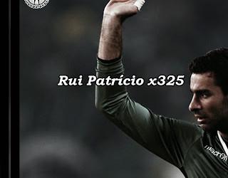 Rui Patrício faz o 325º jogo pelo Sporting e iguala Fernando Peyroteo