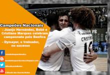 Juanjo, Bebé, Cristiano Marques e Dymayer campeões nacionais de Futsal pelo Benfica