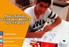 Pedro Simões assina pelo Benfica aos 15 anos