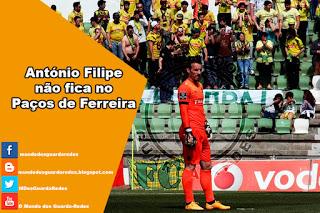 António Filipe não vai continuar no Paços de Ferreira
