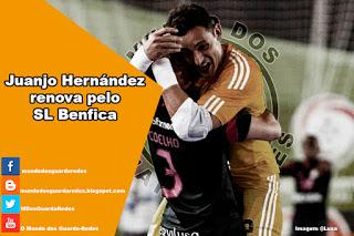 Juanjo Hernández renova pelo Benfica
