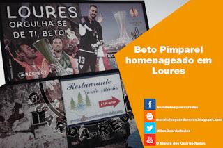Beto Pimparel homenageado em Loures