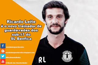 Ricardo Leite é o novo treinador de guarda-redes dos sub-17 do SL Benfica