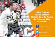 Júlio César vence prémio para Melhor Guarda-Redes da Primeira Liga 2014/2015