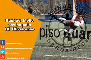 Raphael Mello assina pela UD Oliveirense