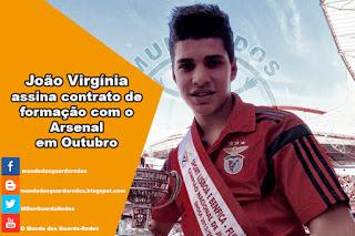 João Virgínia assina contrato de formação com o Arsenal em Outubro