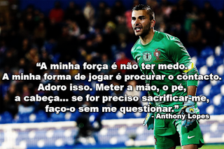 "Anthony Lopes: ""Se for preciso sacrificar-me, faço-o sem me questionar"""