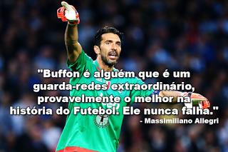 Buffon: Allegri exalta exibição contra Manchester City