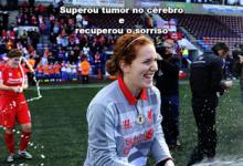 Danielle Gibbons faz primeiro jogo depois de tumor no cérebro