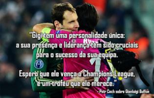 """20 anos de Gianluigi Buffon: Cech elogia """"personalidade única"""""""