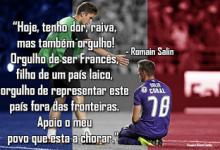 """Romain Salin tem """"dor"""" pelos atentados de Paris, mas sente """"orgulho"""" por França"""