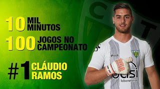 Cláudio Ramos chega aos 100 jogos no campeonato pelo CD Tondela