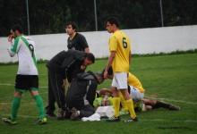 João Tavares sofreu afundamento craniano e ainda tentou defender o penalti