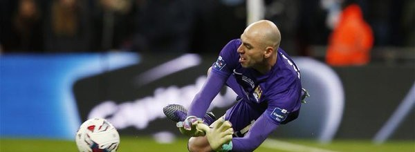 Willy Caballero defendia penaltis no Málaga CF com ajuda de software