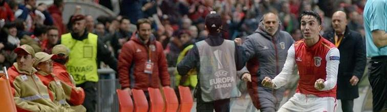 Jorge Vital frenético durante o SC Braga 4-1 Fenerbahçe