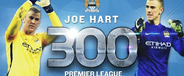 Joe Hart chegou aos 300 jogos na Premier League