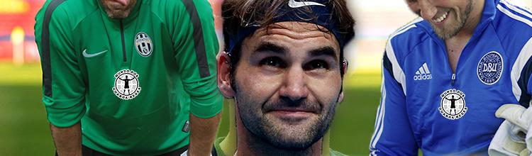 Gianluigi Buffon e Kasper Schmeichel inspiram-se em Roger Federer