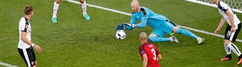 Rui Patrício v. Robert Almer – Estatísticas – Portugal 0-0 Áustria
