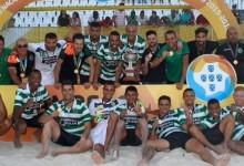 Fran Dona, Tiago Petrony e David Pereira campeões nacionais de Futebol de Praia pelo Sporting CP