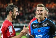 Romain Salin estreou-se na Ligue 1 fechando a baliza do EA Guingamp
