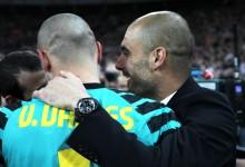 """Pep Guardiola diz que """"sem Víctor Valdés o sucesso do FC Barcelona não acontecia"""""""