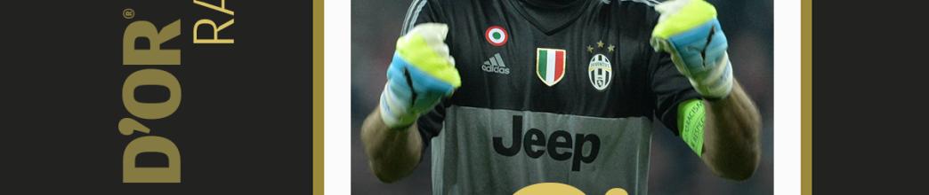 Gianluigi Buffon ficou em 9º na Bola de Ouro