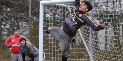 João Virgínia treinou-se com os seniores do Arsenal FC