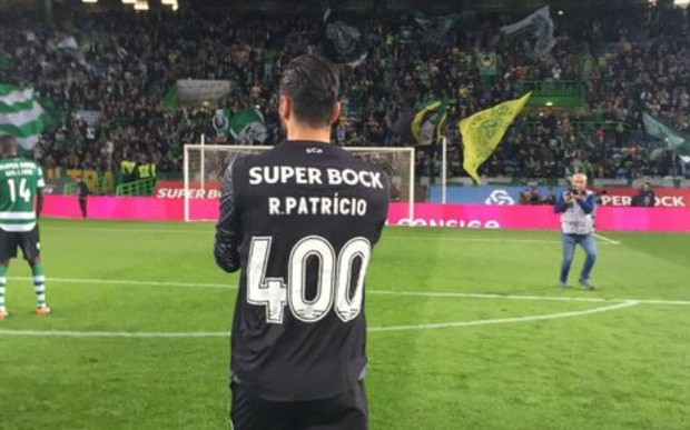 Rui Patrício atinge os 400 jogos pelo Sporting CP aos 29 anos