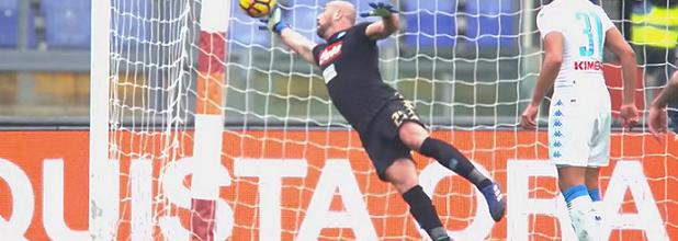 Pepe Reina brilha em defesa espetacular – AS Roma 1-2 Napoli