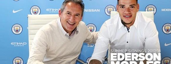 Ederson Moraes apresentado e oficializado no Manchester City até 2023