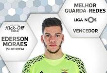 Ederson Moraes vence prémio de Melhor Guarda-Redes da Primeira Liga 2016/2017