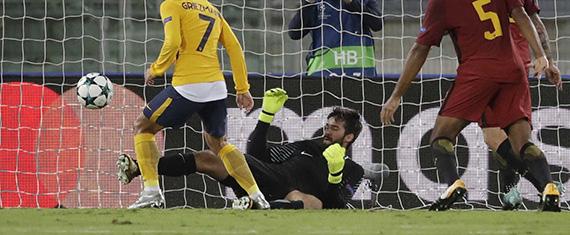 Alisson Becker fecha baliza em nove defesas e 82% eficácia de passe – AS Roma 0-0 Atlético de Madrid
