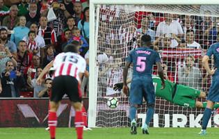 Jan Oblak defende segundo penalti em 2017/2018, sexto em dez que enfrentou desde 2014 – Athletic 1-2 Atlético de Madrid